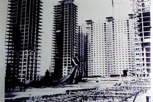 Construction of Red Road Flats 1960s
