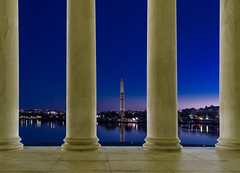 20130406_TidalBasin-15 (Dan_Girard_Photography) Tags: morning blue monument architecture sunrise landscape washingtondc jefferson tidalbasin 2013 dangirardphotography