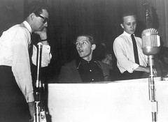 Buddy Holly, Jerry Lee Lewis and Joe B. Mauldin 1958 (Railroad Jack) Tags: