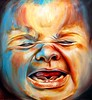 Revolution (Airelav - Valeria Marta Fonisto) Tags: baby art me colors canon painting children acrylic child little colorfull traditional crying canvas revolution scream need marta valeria needs cry emotions feelings realism listen pittura cryin 600d airelav fonisto