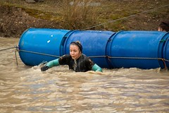 KickAss Endurance Ironbridge Shropshire  230214 (Liz Callan) Tags: people cold water mud barrels running run ironbridge telford hillside endurance kickass femalephotographer canoneos500d lizcallan lizcallanphotography