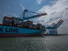 Port de Zeebruges / Haven van Zeebrugge (-[Eric]-) Tags: haven port harbor belgium belgique belgi grue flandres zeebrugge kraan vlaanderen containerschip zeebruges porteconteneur