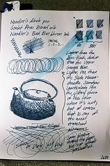 Ink Test: Noodler's Bad Blue Heron vs. Noodler's Blue-Black (jjldickinson) Tags: test pen paper japanese journal sample fountainpen teapot broad nib montblanc olympusom1 149 protocol blueblack diplomat tetsubin ahab meisterstuck noodlersink fujicolorsuperiaxtra400 artalternatives gouletpencompany badblueheron promastermcautozoommacro2870mmf2842 promasterspectrum772mmuv 6polishedsteelnib hobnailteapot roll490o2