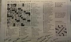 puzzle (byzantiumbooks) Tags: crossword puzzle