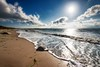 Silberküste (dubdream) Tags: ocean sea sky cloud sun seascape beach water rock germany nikon surf day shoreline balticsea fehmarn cloudysky schleswigholstein d800 colorimage grosenbrode dubdream