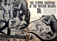 nympho nightmare (=Melvin the Satyr=) Tags: illustration fight saveme attack iguana pulpfiction terror