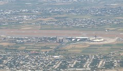 Zvartnots International Airport, Yerevan, Armenia: aerial view (WlNGS) Tags: plane airplane airport torre aircraft jet aerialview aeroporto terminal aeroplane apron armenia flughafen flugzeug aeroport aeropuerto runway airliner avion controltower evn zvartnots zvartnotsinternationalairport udyz