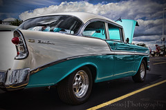 HDR Bel Air (Silverio Photography) Tags: cruise classic belair night photoshop canon de sigma chevy american elements 1770 topaz gillette adjust foxborough bassprpshop