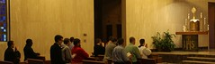 Seminarians at Holy Hour