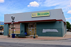 Garlic City Billiards, Gilroy, CA (Robby Virus) Tags: gilroy ca california billiards garlic city pool hall closed business abandoned building sign