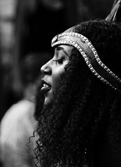Black beauty (rienschrier) Tags: gezicht face snapshot portret stmaarten tropen carnaval party feest vrouw meisje zwartwit blackandwhite girl