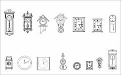Free Interior blocks -wall clocks (CAD Design | Free CAD Blocks,Drawings,Details) Tags: free interior blocks wall clocks