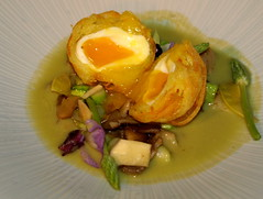 Chef Colin McGurran's dish at Nigel Haworth's Fantastic Food Show (Tony Worrall Foto) Tags: show uk england food man celebrity art cooking make festival fun demo design northwest north restaurants tasty eaten meat blackburn event foodporn chef eatme plates taste posh venue veg celeb nigel foodart michelin reviews iatethis eatingout foodie asl chefs haworth lancs foodphotography taster plateart celebritychefs 2013tonyworrall