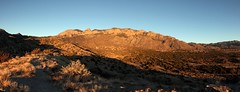 Panorama of the Sandias (CaptDanger) Tags: sunset panorama usa newmexico canon photography photo wide albuquerque abq oranges nm reds mountians sandias newmexicoskies sandiamountians canont3i