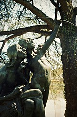Native American Sculpture (David Swift Photography) Tags: sculpture film 35mm newjersey indian nj statues nativeamerican publicart montclair sculptures montclairartmuseum davidswiftphotography