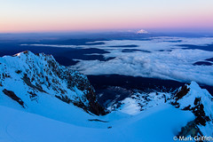 Hood Sunrise (Mark Griffith) Tags: oregon climb climbing alpine mtjefferson mthood mountaineering jefferson mounthood mounthoodnationalforest wyeast sonyrx1 20130603dsc00573