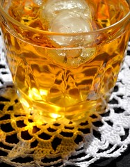 Something cold for hot day (espero85) Tags: cold ice apple glass juice crochet