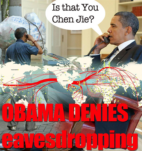OBAMA DENIES EAVESDROPPING IN CHINA