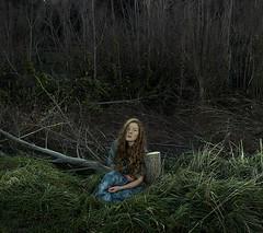 Fallen (Shutterbug_95) Tags: green girl river hair curly
