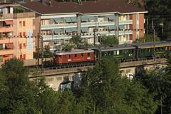 BLS Ltschbergbahn Lokomotive Ae 6/8 205 mit historischen Personenzug - Zug auf dem Lorraineviaudukt ( Viadukt - Brcke - Bridge ) bei Bern im Kanton Bern in der Schweiz (chrchr_75) Tags: juni train de tren schweiz switzerland suisse suiza swiss eisenbahn railway zug sua locomotive bern christoph svizzera bls bahn treno chemin centralsta
