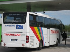 2013 04 20 00 MERCEDES BENZ TOURISMO D'AGOSTINO NORTH OF NAPLES ON HIRE TO TRAFALGAR TOURS (Andrew Reynolds transport view) Tags: italy bus mercedes benz coach europe diesel 04 north transport trafalgar transit naples to passenger 20 tours 00 hire on tourismo dagostino 2013 of
