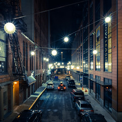Street Lights (Darren C. Wang) Tags: seattle street city night lights washington nikon unitedstates state tokina 1116mm d7000