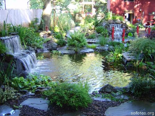 Fontes de agua para decoração