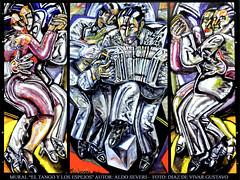 Mural - El tango y los espejos  II - Aldo Severi - Diaz De Vivar Gustavo (Diaz De Vivar Gustavo) Tags: city wallpaper art luz argentina look america photoshop de los arquitectura mu