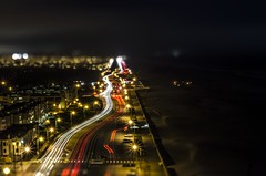San Francisco's Pacific Edge by Night (M. Kamran Meyer) Tags: sanfrancisco goldengatepark longexposure cars beach night darkness traffic shift headlights vehicles nighttime oceanbeach tilt zigzag chemtrails automobiles taillights outersunset outerrichmond