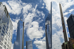 WTC 1,7,4 & Reflection 1 (Wallace Flores) Tags: nyc clouds nikon wtc newyorkstate lowermanhattan wtc1 d3s