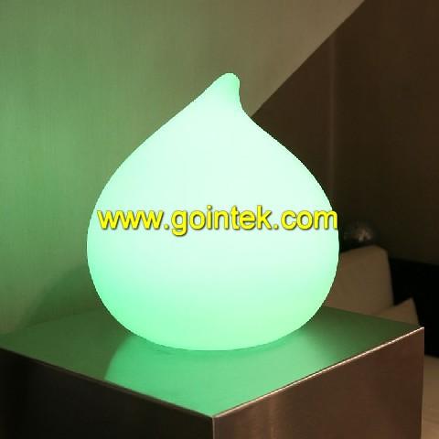 que cambia de color led luz de la noche del huevo con la luz del cambio del color
