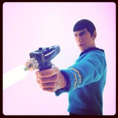 Set For Stun (8 Skeins of Danger) Tags: startrek spock phaser settostun 8skeinsofdanger uploaded:by=flickrmobile flickriosapp:filter=original