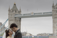 Love_ Tower Bridge (chrisprice999) Tags: street woman man london tower love girl lady female towerbridge canon river groom bride streetphotography marriage passion bridegroom riverthames beutiful canon7d
