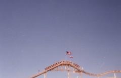(teacup_dreams) Tags: santa usa film pier los angeles monica rollercoaster