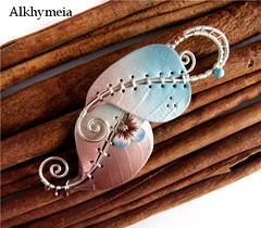 Chlorophyll, fra Cielo e Terra 3, front side (Alkhymeia) Tags: wood blue original autumn white art fall nature leaves work silver wrapping spiral liberty necklace leaf wire natural handmade spirals blu unique ooak magic inspired wrapped jewelry bijoux pasta jewellery polymerclay fimo fairy clay wicked copper wired sculpey handcrafted swirl fairies wearable nouveau autumnal pendant enchanted whimsical handcraft jewel wiccan elvish polymer colgante wirework neckpiece pendente premo collana metallo wirewrapping wirewrapped arcilla argilla ciondolo incantato gioiello polimer spirali sintetica polimerica pastapolimerica pastasintetica polimerkil