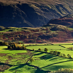 Distant Past (John Ormerod) Tags: uk autumn trees light england mountains landscape photography shadows lakedistrict hills cumbria fells keswick distant stonecircle castlerigg castleriggstonecircle latriggfell