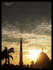 Islam Itu Cahaya (Art-slice) Tags: sunset building silhouette yellow architecture buildings landscape photography islam faith prayer religion perspective places olympus mosque malaysia putrajaya hisham masjid omd em1 solat sifoocom artisticslice shamcool omdem1 kfgm 1240mmf28pro