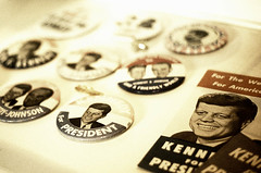 Campaign badges (Dave Green Photo) Tags: leica trip usa colour film america kodak rangefinder scan september jfk analogue portra m6 leicam6 portra400 2013 agphotographic
