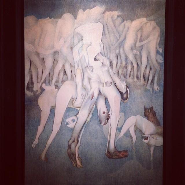 """""""Compositié"""" 1974 • """"El Pasado Presente"""" de Gerardo Chávez #art #arte #arteenlima #artinlima #artista #artist"""
