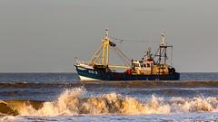 """Adrianne"" OD 3, fishing along the coast (BraCom (Bram)) Tags: holland canon coast fishing surf waves widescreen nederland thenetherlands noordzee sunny explore northsea adrianne fishingboat 169 vissen branding ouddorp kust zuidholland goereeoverflakkee vissersboot golven zonnig southholland canonef70200mm od3 bracom canoneos5dmkiii"