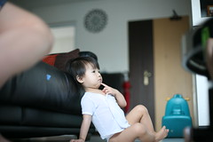 Sitting Comfortably (Lucky Daddy) Tags: portrait canon children 50mm 5d 50mmf14