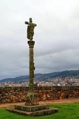 Crucifix in the fortress De San Sebastian Vigo (Eddie Crutchley) Tags: spain europe crucifix fortress vigo cruisesblackseacruise