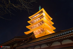 Five-story Pagoda of Senso-ji Temple (Masahiko Futami) Tags: city building history japan architecture night canon sensoji tokyo asia photographer culture 日本 civilization 東京 asakusa 建築 建物 浅草 taito 歴史 夜 文化 浅草寺 台東区 都市 文明 eos5dmarkiii citytraveler シティートラベラー