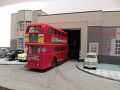 Hornchurch bus garage (kingsway john) Tags: hornchurch bus garage 176 scale mode card kit london transport efe londontransportmodel model diorama oo gauge miniature