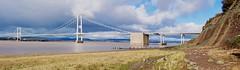 calm before the storm (Maggie's Camera) Tags: uk bridge winter panorama sunshine severn severnbridge
