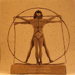 Sacred Geometry - Vitruvian Man (Sunny Marmalade) Tags: man sacred folded vitruvian kunsulu jilkishiyeva