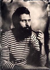 The Not So Old Man And The Sea (Maciek Lesniak) Tags: beard pipe ambrotype wetplate sailor largeformat mentor 13x18 sailorsdontcry