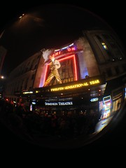 Dominion Theatre, Tottenham Court Road, London (CoasterMadMatt) Tags: city uk greatbritain winter england fish london eye english rock season lens outside photography march photo exterior theatre you photos unitedkingdom camden we queen fisheye attachment musical photographs will gb production wewillrockyou dominion theatres fisheyelens iphone 2014 dominiontheatre londonboroughofcamden coastermadmatt uploaded:by=flickrmobile flickriosapp:filter=nofilter march2014 coastermadmattphotography