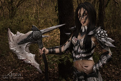 The Elder Scrolls V : Skyrim - Dragonscale nordic armor (SixAilesPhotographie) Tags: woman game nature girl forest costume cosplay 5 femme v armor elder axe warrior hache nordic cosplayer props fort the armure scrolls theelderscrolls jeuxvideo guerrier dragonscale skyrim theelderscrollsvskyrim theelderscrollsv arsynal sixailes sixaileslamascarade arsynalprops dragonscalenordicarmor osdedragon