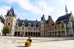 Travels of bader - Courtyard of Chteau Royal de Blois (enigmabadger) Tags: vacation france french lego fig centre minifig custom printed blois minifigure brickarms